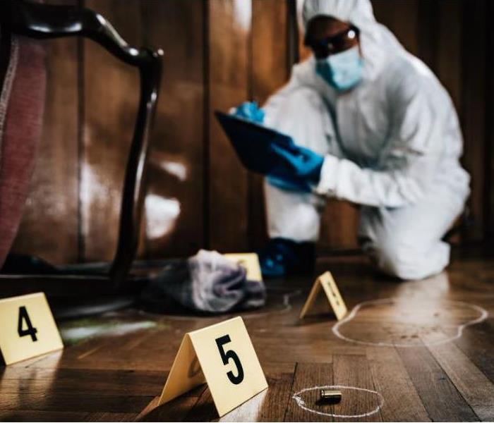 cleaning a crime scene